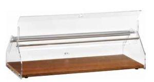 VL4748 Vetrinetta neutra piano legno cupola plexiglass 50x35x21h