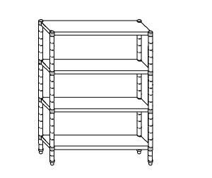 SC8201 estante de acero aluminizado 140x50x180 cm
