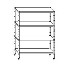 plataforma de acero aluminizado SC8213 120x60x180 cm