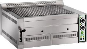 B80 Griglia a pietra lavica alimentazione a gas con griglia cottura in ghisa doppia