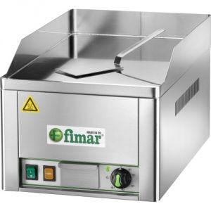FRY1LC Fry top elettrico da banco monofase 3000W piano singolo liscio acciaio cromato