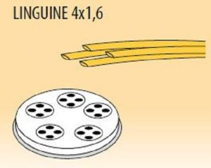 MPFTL4X16-8 Trafila LINGUINE 4x1,6 per macchina per pasta fresca