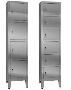 IN-695.04 Armadio Multivano in acciaio inox Aisi 304 - 4 posti