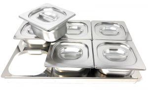 TIMGS16  Gastronorm 1/1 cadre en acier inoxydable pour 6 conteneurs GN 1/6