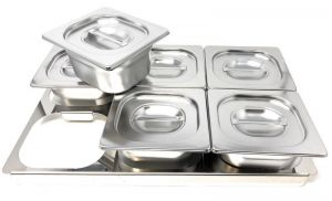 TIMGS16 Gastronorm 1/1 stainless steel frame for 6 GN 1/6 containers