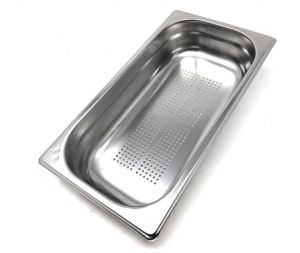 GST1/3P065F Contenitore Gastronorm 1/3 h65 forato in acciaio inox AISI 304