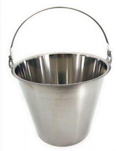SE-G12 Secchio in acciaio inox graduato 12 litri