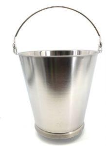 SE-G15B Secchio in acciaio inox graduato 15  litri con base