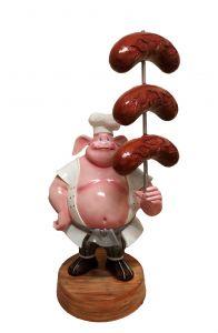SR004A WURSTEL con cerdo - WURSTEL Publicidad 3D para gastronomía altura 230 cm