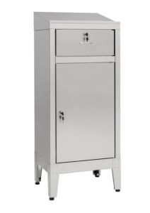 IN-699.01.430C Cabinet desk with drawer in AISI 430 steel - dim. 50x40x115 H