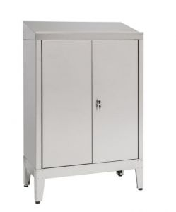 IN-699.02.430 Desk unit with 2 doors in AISI 430 steel  - dim. 80x40x115 H