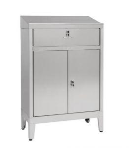 IN-699.02C Bureau armoire à 2 portes avec tiroir - dim. 80x40x115H