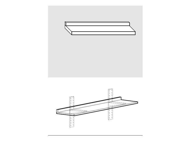 Ripiano liscio in acciaio inox AISI 304 con alzatina dim. cm. 110x30x4h