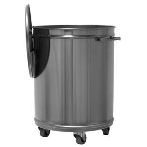 MC1001 dustbin trolley round steel from 70 liters