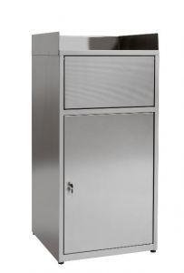 IN-Z.701.01 Pattumiera armadiata svuota vassoi in lamiera zinco plastificata - Dim. 60x60x120 H