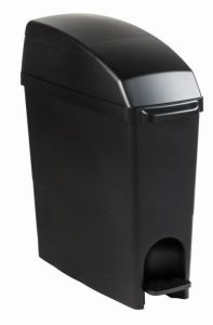 T104281 Contenedor higiénico polipropileno negro 18 litros
