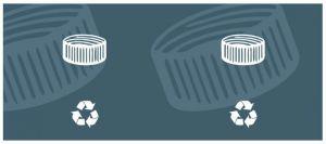 T774512 Etiqueta autoadhesiva para la recogida de TAPONES DE PLASTICO