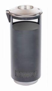 T776002 Cubo de basura con cenicero exterior 70 litros