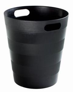 T907121 Cestino gettacarte polipropilene riciclato nero 12 litri