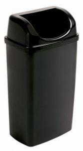 T907501 Gettacarte con coperchio ad imbocco polipropilene nero 50 litri