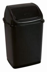 T909535 Pattumiera con coperchio basculante polipropilene nero 35 litri