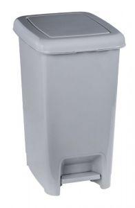 T909926 Cubo de basura con pedal en polipropileno gris 25 litros
