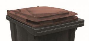 T910254 Coperchio Marrone per contenitore rifiuti esterni 240 litri