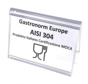 MOCA-CERT Targhetta da appoggio per segnalare certificazione MOCA prodotti