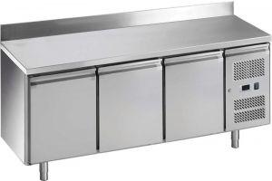 G-GN3200BT-FC Tavolo refrigerato ventilato con alzatina, telaio inox Aisi201