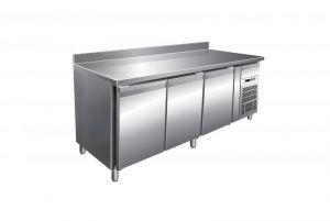 G-PA3200TN Tavolo Refrigerato Ventilato Tre Sportelli con Alzatina