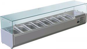 VRX1800-380-FC Vetrina refrigerata inox aisi 201 per bacinelle