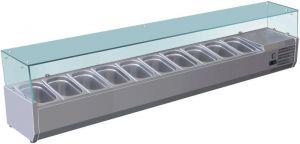 VRX2000-330-FC Vetrina refrigerata inox aisi 201 per bacinelle