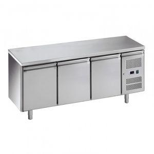 G-SNACK3100TN-FC Banco Refrigerato Ventilato 3 Porte - Temp -2° +8°C - Capacità Lt 239