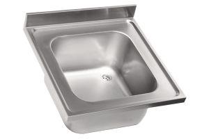 LV6000 Top  évier en acier inoxydable AISI 304 1VP 600X600 dim