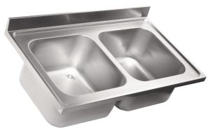 LV6014 Top 304 stainless steel sink dim.1300X600 2V
