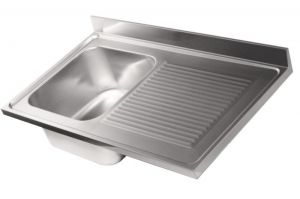 LV6015 Top 304 stainless steel sink dim.1300X600 1V SG DXL