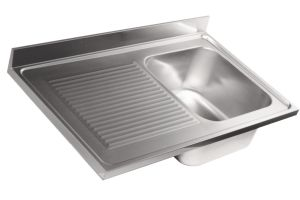 LV6016 Top 304 stainless steel sink dim.1300X600 1V SG SXL
