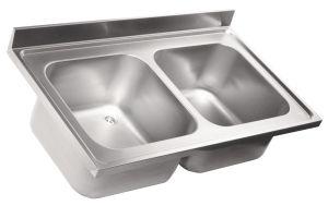 LV6018 Top 304 évier en acier inoxydable dim.1400X600 2V