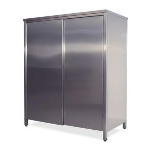AN6001 neutral stainless steel cabinet with sliding doors