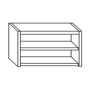 PE7001 wall unit with a stainless steel shelf L = 80cm