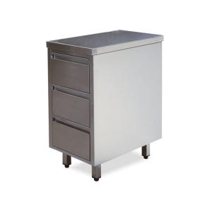 CA3001 stainless steel drawers with 3 drawers