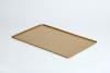 VSS64 Vassoio rettangolare in alluminio dorato 600x400x10mm