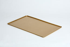 VSS64 Vassoio rettangolare in alluminio 600x400x10mm color oro