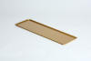 VSS62 Rectangular tray in aluminum 600x200x10mm gold color