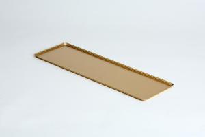 VSS62 Rectangular tray in aluminum 600x200x10mm gold color