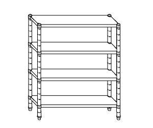 SC8180 shelf aluminized steel 70x40x180 cm