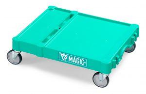 T09080400 Base Magic Piccola - Verde - Ruote Ø 100 Mm