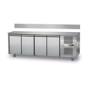 FTRA4TN - Tavolo Refrigerato Ventilato 4 porte - 0/+10° - CON ALZATINA