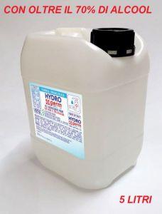 T799052-TAN5 Gel igienizzante mani TANICA 5 LITRI base idralcolica oltre il 70% certificato