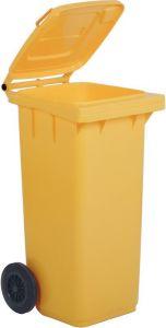 AV4678 Yellow dustbin 2 wheels 100 liters